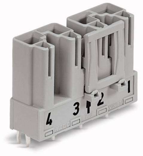 Hálózati csatlakozó dugó, beépíthető, függőleges, pólusszám: 4, 25 A, szürke, WAGO 770-854, 50 db