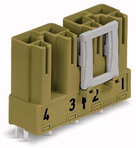 Hálózati csatlakozó dugó, beépíthető, függőleges, pólusszám: 4, 25 A, világoszöld, WAGO 770-874, 50 db