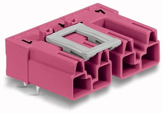 Hálózati csatlakozó dugó, beépíthető, vízszintes, 25 A, pólusszám: 4, pink, 50 db, WAGO 770-894/011-000/081-000
