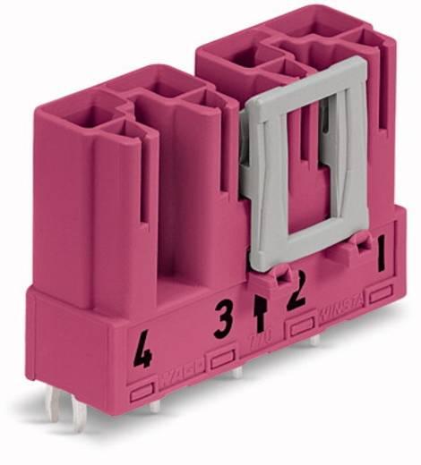 Hálózati csatlakozó dugó, beépíthető, függőleges, pólusszám: 4, 25 A, pink, WAGO 770-894, 50 db