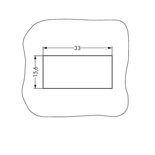 Bepattintható keret, fekete, 100 db, WAGO 770-338