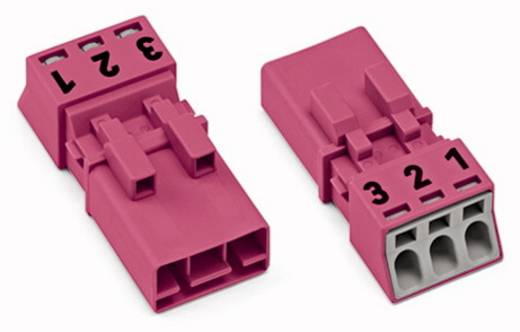 Hálózati csatlakozó dugó, egyenes, 16 A, pólusszám: 3, pink, 50 db, WAGO 890-293