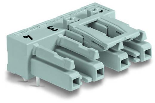 Hálózati csatlakozó alj, beépíthető, vízszintes, 25 A, pólusszám: 4, szürke, 50 db, WAGO 770-844/011-000/062-000