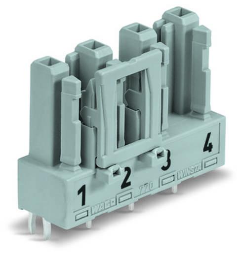 Hálózati csatlakozó alj, beépíthető, függőleges, 25 A, pólusszám: 4, szürke, 50 db, WAGO 770-844/064-000