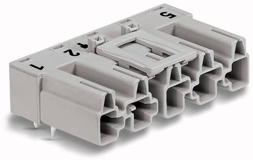 Hálózati csatlakozó dugó, beépíthető, vízszintes, 25 A, pólusszám: 5, szürke, 50 db, WAGO 770-855/011-000/062-000