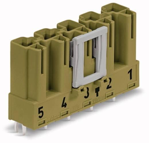Hálózati csatlakozó dugó, beépíthető, függőleges, pólusszám: 5, 25 A, világoszöld, WAGO 770-875, 50 db