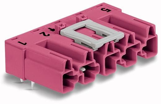 Hálózati csatlakozó dugó, beépíthető, vízszintes, pólusszám: 5, 25 A, pink, WAGO 770-895/011-000, 50 db