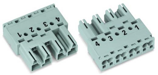 Hálózati csatlakozó dugó, egyenes, pólusszám: 4, 25 A, szürke, WAGO 770-254, 50 db