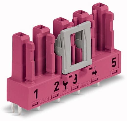 Hálózati csatlakozó alj, beépíthető, függőleges, pólusszám: 5, 25 A, pink, WAGO 770-885, 50 db