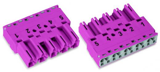 Hálózati csatlakozó dugó, egyenes, pólusszám: 5, 25 A, fekete, WAGO 770-215, 50 db