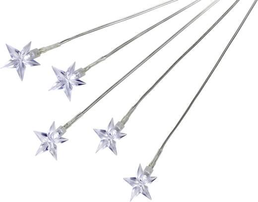 LED-es leszúrható kerti dekoráció készlet, csillagok, átlátszó, 11-C097