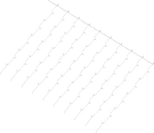 Kültéri mikro fényfüzér, 100 LED, 24 V, melegfehér, 180x135 cm,