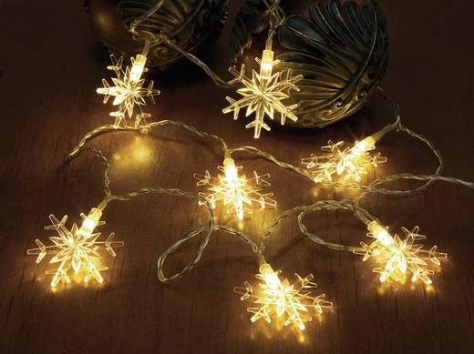 Kültéri motívumos, LED-es fényfüzér, 12 melegfehér LED, hópehely, 1220 cm, 12-C004