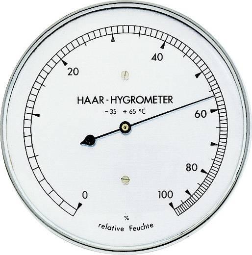 Hajszálas higrométer, páratartalom mérő, rozsdamentes acél, ø 100 mm