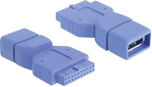 USB 3.0 átalakító, belső 19 pólusú USB 3.0 aljról A típusú USB 3.0 aljra, kék