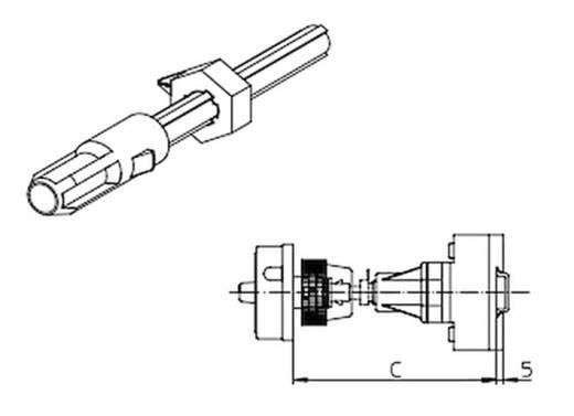 Fém tengelyhosszabbítás elválasztó kapcsolóhoz, első központi rögzítés Sälzer AVA8-215