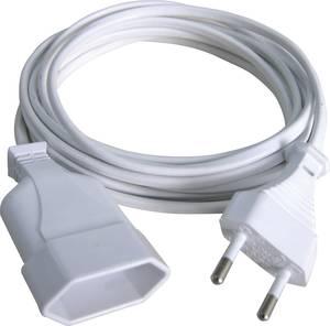 Euro dugós hálózati hosszabbítókábel, fehér, 2 m, H03VVH2-F 2 x 0,75 mm², GAO 145601098 (145601098) GAO