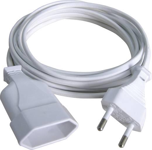 Euro dugós hálózati hosszabbítókábel, fehér, 2 m, H03VVH2-F 2 x 0,75 mm², GAO 145601098