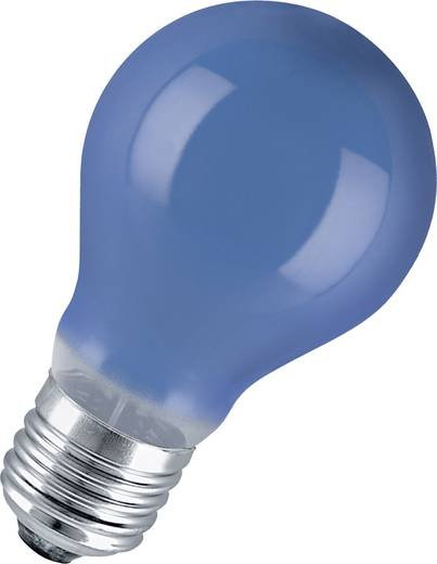 Speciális izzó fényfüzérekhez, E27, 11 W, kék, izzólámpa forma, Osram 4008321545862