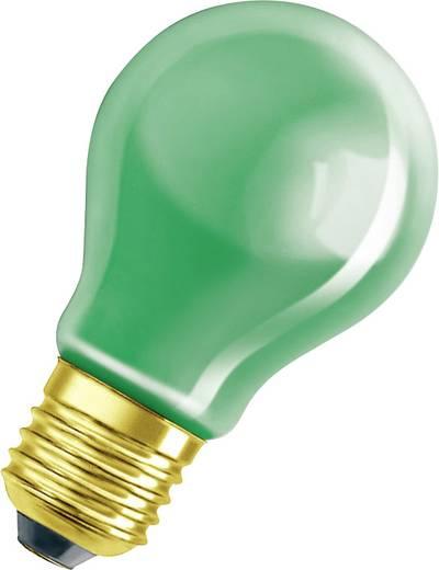 Speciális izzó fényfüzérekhez, E27, 11 W, zöld, izzólámpa forma, Osram 4008321545893