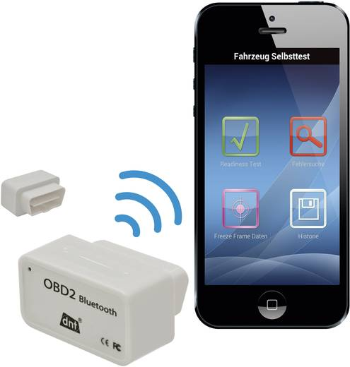 Bluetoothos OBD II kiolvasó, Dnt 66713
