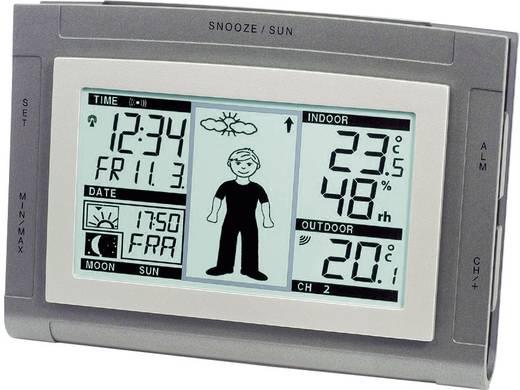Vezeték nélküli digitális időjárásjelző állomás öltözős emberkével, CONRAD WS9611-IT