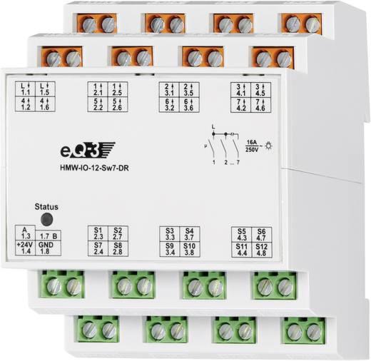 RS485 I/O modul 12 bemenet 7 kapcsoló kimenet, HomeMatic