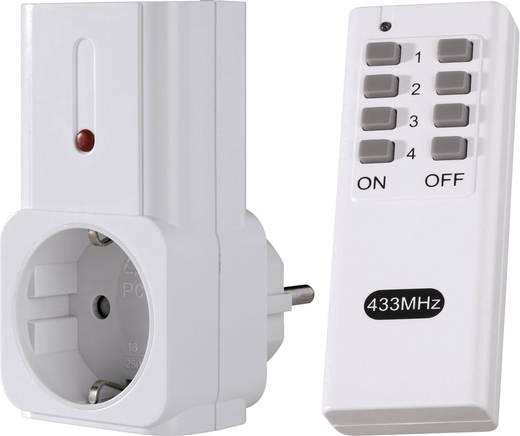 Vezeték nélküli kapcsoló készlet, 2 részes, max. 30 m, 433 MHz
