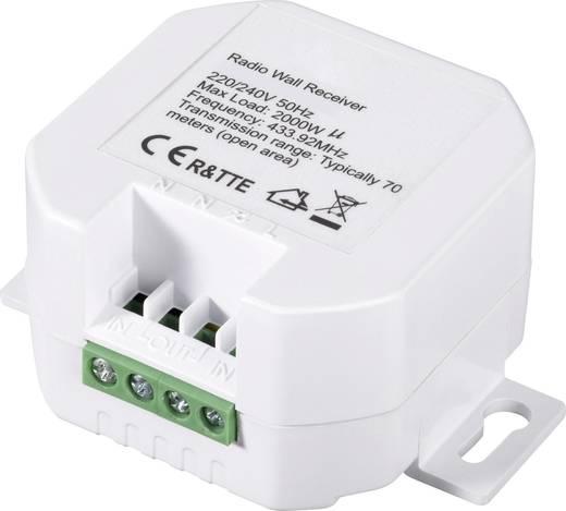 Vezeték nélküli beépíthető kapcsolókészlet, 2 részes, max. 70 m, RSL