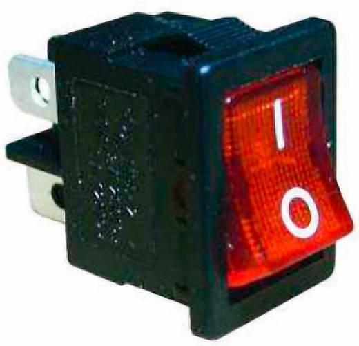 Mini billenőkapcsoló, 1 x BE, világító
