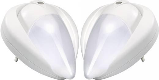 LED-es éjszakai fény, ovális, fehér, 2 részes készlet