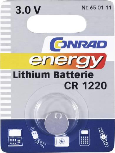 CR1220 lítium gombelem, 3 V, 30 mA, Conrad Energy BR1220, DL1220, ECR1220, KCR1220, KL1220, KECR1220, LM1220