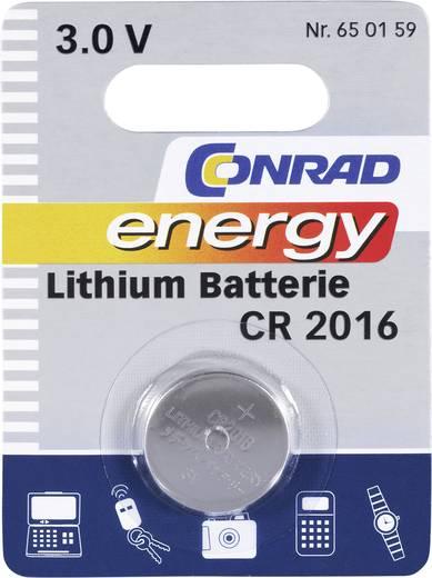 CR2016 lítium gombelem, 3 V, 70 mA, Conrad Energy BR2016, DL2016, ECR2016, KCR2016, KL2016, KECR2016, LM2016