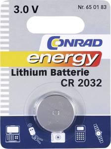 CR2032 lítium gombelem, 3 V, 200 mA, Conrad Energy BR2032, DL2032, ECR2032, KCR2032, KL2032, KECR2032, LM2032 (650183) Conrad energy