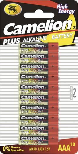 Mikroelem AAA, alkáli mangán, 1,5V, 10 db, Camelion LR03, AAA, LR3, AM4M8A, AM4, S