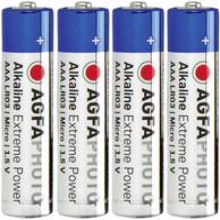 Mikroelem AAA, alkáli mangán, 1,5V, 4 db, Agfa LR03, AAA, LR3, AM4M8A, AM4, S AgfaPhoto