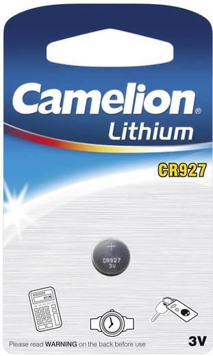 CR927 lítium gombelem, 3 V, 30 mA, Camelion BR927, DL927, ECR927, KCR927, T7729