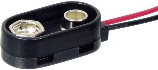 Elemklipsz 9V-os elemhez, fröccsenő víz ellen védettt, 26 x 13 x 8 mm, Beltrona 9V-I-Clip-S