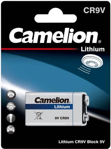 9V-os elem, lítium, 9V, 1200 mAh, Camelion 6LR61, 6LR21, 6AM6, 6LP3146, MN1604, A1604, E Block, LR22