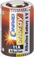 11A alkáli elem, távirányító elem, 6V 57 mAh,  A11, E11A, V11A, V11PX, V11GA, L1016, MN11, G11A, Conrad Energy  Conrad energy