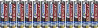 Ceruzaelem AA, cink-szén, 1,5V, 12 db, Conrad Energy LR06, AA, LR6, AAB4E, AM3, 815, E91, LR6N Conrad energy