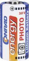 CR123A fotóelem, lítium, 3V 1400 mAh, Conrad Energy Conrad energy