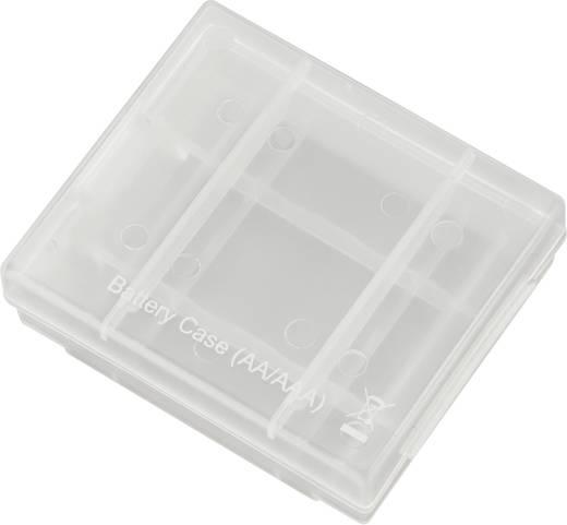 Elem-, akkutartó doboz 4 mikro- vagy ceruzaelemhez, -akkuhoz, Conrad energy