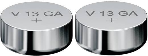 LR44 gombelem, alkáli mangán, 1,5V, 125 mAh, 2 db, Varta AG13, V13GA, G13A, 13GA, PX76A, PX675A, 157, L1154