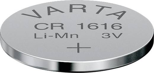 CR1616 lítium gombelem, 3 V, 55 mA, Varta BR1616, DL1616, ECR1616, KCR1616, KL1616, KECR1616, LM1616