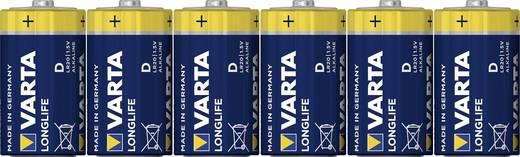 Góliát elem D, alkáli mangán, 1,5V, 6 db, Varta Longlife Max LR20, D, AM1, XL, MN1300, 813, E95, LR20N, 13A