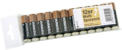 Ceruzaelem AA, alkáli mangán, 1,5V, 12 db, Duracell LR06, AA, LR6, AAB4E, AM3, 815, E91, LR6N