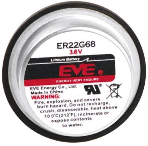 Lítium gombelem, forrasztható, 3,6V 400 mAh, forrfüles, 12,5 x 22,6 mm, EVE ER22G68