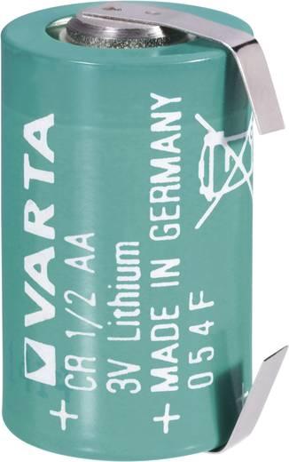 1/2 AA lítium elem, forrasztható, 3V 970 mAh, forrfüles, 15 x 25 mm, Varta CR 1/2 AA LF