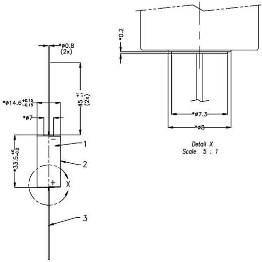 2/3 AA lítium elem, forrasztható, 3V 1350 mAh, forrfüles, 15 x 33 mm, Varta CR 2/3 AA CD